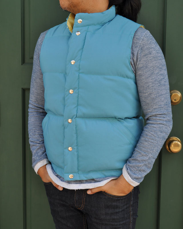 【50%OFF】WATER x CRESCENT DOWN WORKS (クレセント ダウン ワークス) SEATTLE VEST / シアトルベスト