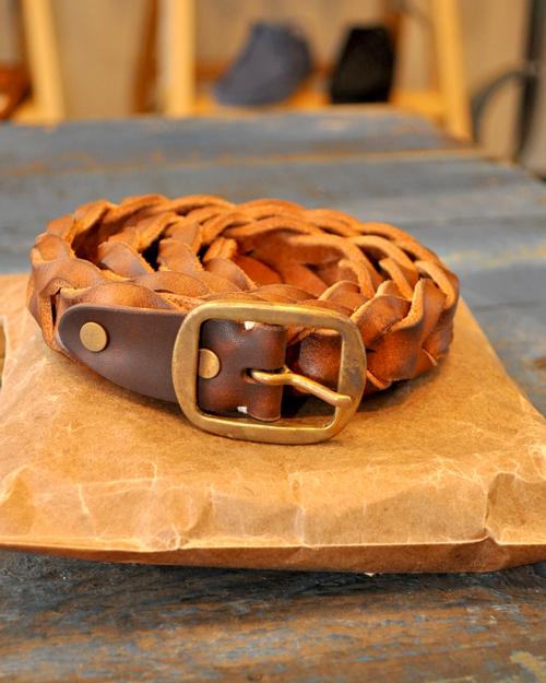 LIFE IS ....(ライフイズ) Waving Leather BELT/ ウェイビング レザー ベルト