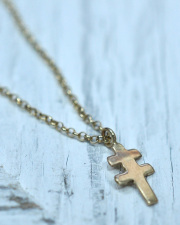 LIFE IS ....(ライフイズ) DOUBLE CROSS NECKLACE/ ダブルクロス ネックレス