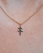 LIFE IS ....(ライフイズ) DOUBLE CROSS NECKLACE LADY'S/ ダブルクロス ネックレス レディース