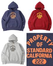 STANDARD CALIFORNIA (スタンダードカリフォルニア) CHAMPION × SD Reverse Weave Hood Sweat