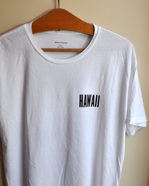 "【50%OFF】Quality Peoples (クオリティーピープル) ""HAWAII"" Crew T"