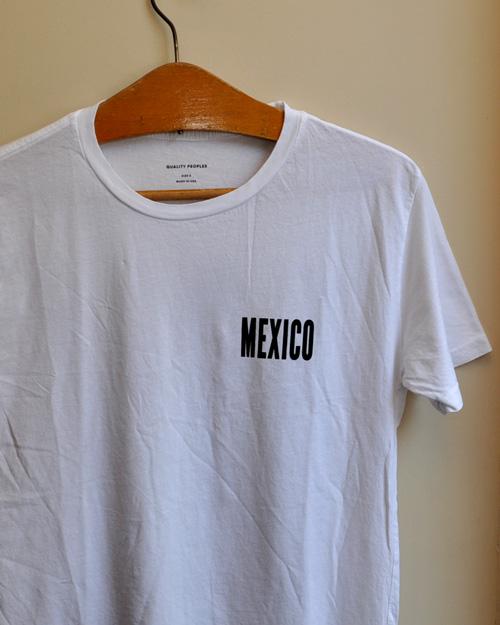 "【50%OFF】Quality Peoples (クオリティーピープル) ""MEXICO"" Crew T"