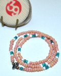 39 (SunKu/サンク) Antique & Turquise Beads Necklace & Bracelet / アンティーク&ターコイズビーズ ネックレス&ブレスレット