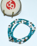 39 (SunKu/サンク) Turquise Beads(bt) Necklace & Bracelet / ターコイズ ネックレス&ブレスレット