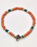 39 (SunKu/サンク) Antique & Turquise Beads Bracelet / アンティーク&ターコイズビーズ ブレスレット
