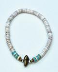 39 (SunKu/サンク)  White Shell Beads Bracelet / ホワイトシェルビーズ ブレスレット