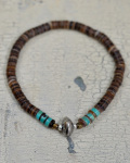 39 (SunKu/サンク)  Brown Shell Beads Bracelet / ブラウンシェルビーズ ブレスレット