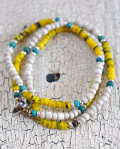 WATER x 39 (SunKu/サンク) Kangaba&White Beads Necklace & Bracelet / カカンバ&ホワイトビーズ ネックレス&ブレスレット