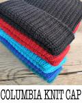 【1枚までメール便可】【BLACK再入荷】columbia knit (コロンビアニット) COTTON100% KNIT CAP / コットン ニット キャップ MADE IN USA