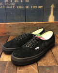 VANS (バンズ) AUTHENTIC (PIG SUEDE) BLACK/BLACK