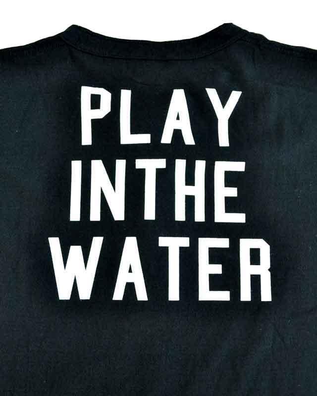 WATER x Health Knit (ヘルスニット) 3B Henry Neck Tee / ヘンリーネックT