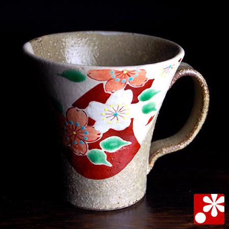 九谷焼 マグカップ 花友禅(W-30929)