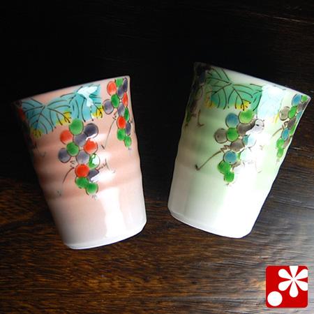 ペアビアカップ ぶどう文(WAZAHONPO-41102)