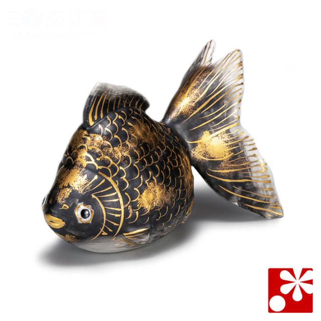 九谷焼 5号 金魚 黒彩(WAZAHONPO-61620)