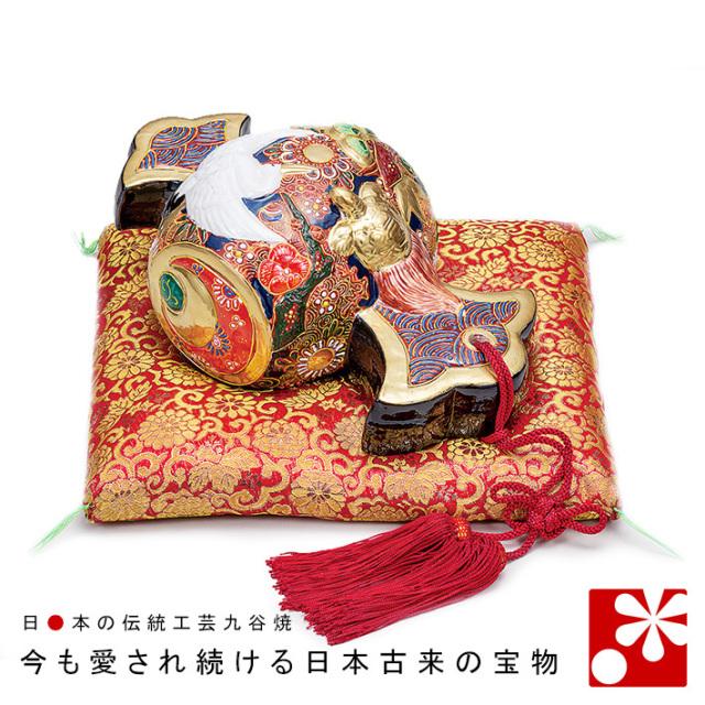 九谷焼 10号打ち出の小槌(鶴・亀) 盛(WAZAHONPO-71660)