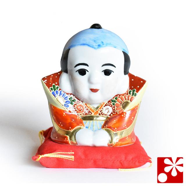 九谷焼 福助 盛(座布団付)(高さ10cm)(WAZAHONPO-41838)