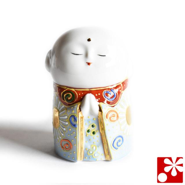 九谷焼 小さな守苦福 お地蔵様 青盛(高さ8cm)(kome-18)