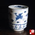 九谷焼 湯呑 雲鶴紋(W-20645)
