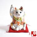 九谷焼 招き猫(右手・左手) 金ぶち(WAZAHONPO-31750)