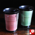 ペアビアカップ 黒銀彩(WAZAHONPO-41104)