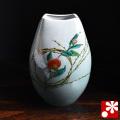 九谷焼 花瓶 柳むすび(4-1338)