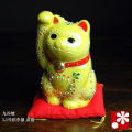 3.5号招き猫 黄盛(WAZAHONPO-41695)