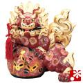 九谷焼 12号剣獅子 盛(WAZAHONPO-41867)