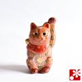 九谷焼 招き猫(左手) 茶盛(WAZAHONPO-51555)