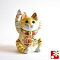 九谷焼 両手招き猫(右手・左手) トラ(WAZAHONPO-51575)