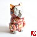 九谷焼 お祈り猫 赤盛(WAZAHONPO-51577)