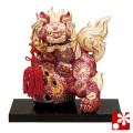 九谷焼 6号剣獅子(高さ19cm) 盛(WAZAHONPO-51702)