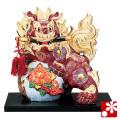 九谷焼 8号剣獅子(高さ25cm) 盛(WAZAHONPO-61638)