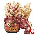 九谷焼 10号立獅子(高さ31cm) 盛(WAZAHONPO-61639)
