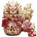 九谷焼 12号剣獅子(高さ36cm) 盛(WAZAHONPO-61642)
