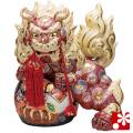 九谷焼 12号宝獅子(高さ36cm) 盛(WAZAHONPO-61643)