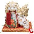 九谷焼 13号牡丹獅子(高さ39cm) 白盛(WAZAHONPO-51716)