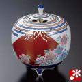 山上義正 九谷焼 香炉 富士桜(WAZAHONPO-52026)