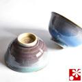 九谷焼 夫婦茶碗 釉彩(WAZAHONPO-50469)