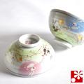 九谷焼 夫婦茶碗 はねうさぎ(WAZAHONPO-50474)