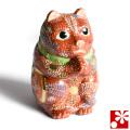 九谷焼 お願い猫 置物 盛(高 約16cm)(w6-1511)