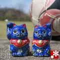 ちび招き猫ちゃんセット 夏の青い招き猫(WAZAHONPO-BLUE)