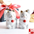 九谷焼 ちび招き猫シリーズ 日の丸デザイン(WAZAHONPO-JAPAN)