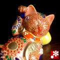 まくら招き猫(右手) 赤盛(WAZAHONPO-41699)