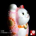招き猫(右手) ピンク盛(WAZAHONPO-41704)