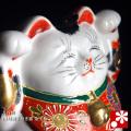両手招き猫(右手・左手) 金三毛(WAZAHONPO-41709)