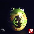 九谷焼 カエル 盛(置物)(高さ9cm)(WAZAHONPO-41835)