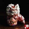 九谷焼 4.5号獅子(高さ13.5cm) 盛(WAZAHONPO-51701)