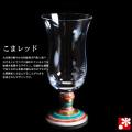 九谷和グラス 冷酒グラス こまレッド(WAGLASS-R05)