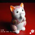 お祈り猫(中型) 特上ピンク盛(WAZAHONPO-oinori-pink)